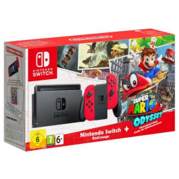 Coperta NINTENDO SWITCH CONSOLE SUPER MARIO ODYSSEY EDITION (WITH RED JOY-CONS) - GDG
