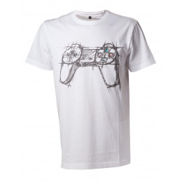 Coperta PLAYSTATION WHITE CONTROLLER TSHIRT XL