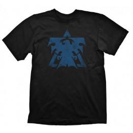 Coperta STARCRAFT 2 TERRAN LOGO BLUE VINTAGE TSHIRT L