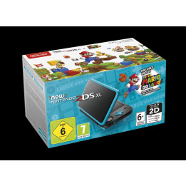 Coperta NINTENDO NEW 2DS XL CONSOLE BLACK & TURQUOISE WITH SUPER MARIO 3D LAND - GDG
