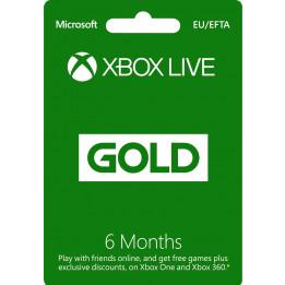 Coperta XBOX LIVE GOLD 6 MONTHS MEMBERSHIP - XBOX ONE (MICROSOFT CODE)