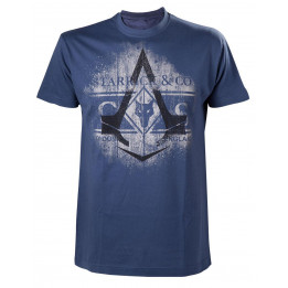 ASSASSINS CREED SYNDICATE STARRICK & CO BLUE TSHIRT L