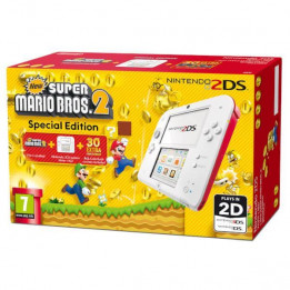 Coperta NINTENDO 2DS CONSOLE WHITE & RED & NEW SUPER MARIO BROS 2 - GDG