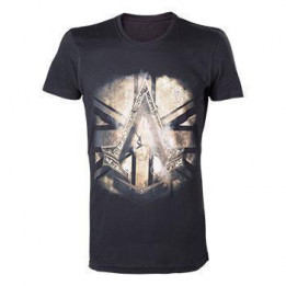 Coperta ASSASSINS CREED SYNDICATE BRITISH FLAG BLACK TSHIRT L