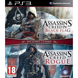 Coperta COMPILATION ASSASSINS CREED 4 BLACK FLAG & ASSASSINS CREED ROGUE - PS3