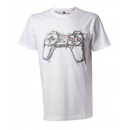 PLAYSTATION WHITE CONTROLLER TSHIRT M