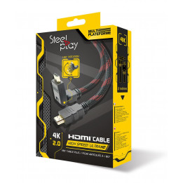 Coperta STEELPLAY - 4K HDMI HIGH SPEED CABLE 180° ARTICULATED - 2M (MULTI)