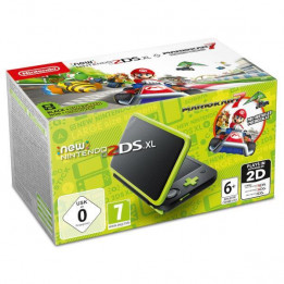 Coperta NINTENDO NEW 2DS XL CONSOLE BLACK & LIME GREEN + MARIO KART 7 (DLC) - GDG