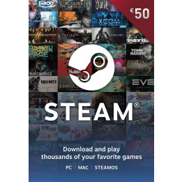 Coperta STEAM WALLET 50 EURO (CD KEY) (VOUCHER CU SCOP MULTIPLU)