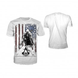 Coperta ASSASSINS CREED 3 BURNED FLAG WHITE TSHIRT M