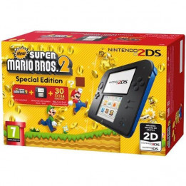 Coperta NINTENDO 2DS CONSOLE BLACK & BLUE & NEW SUPER MARIO BROS 2 - GDG