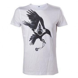 ASSASSINS CREED SYNDICATE CROW WHITE TSHIRT M