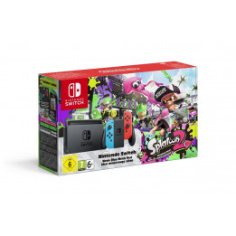 Coperta NINTENDO SWITCH CONSOLE (WITH NEON RED & NEON BLUE JOY-CONS) & SPLATOON 2 - GDG