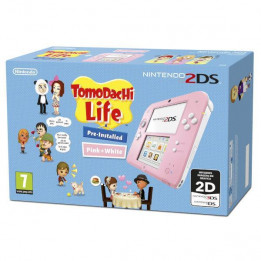Coperta NINTENDO 2DS CONSOLE PINK & WHITE & TOMODACHI LIFE - GDG