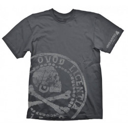 UNCHARTED 4 PIRATE COIN OVERSIZE TSHIRT S