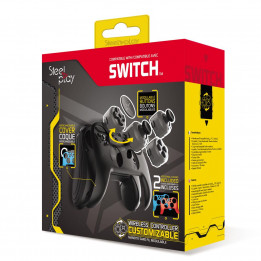 Coperta STEELPLAY - WIRELESS CUSTOMIZABLE CONTROLLER + 2 CASES (SWITCH)