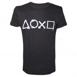 PLAYSTATION BUTTONS TSHIRT L