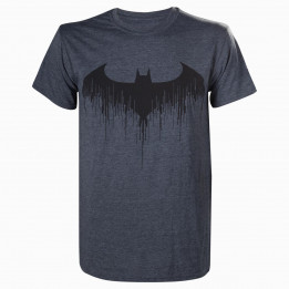 BATMAN ARKHAM KNIGHT BAT GREY TSHIRT L