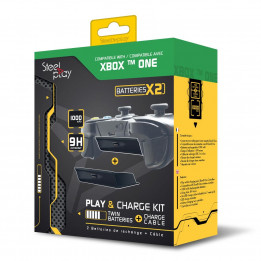 Coperta STEELPLAY - PLAY&CHARGE KIT - TWIN BATTERIES + CABLE (XONE)